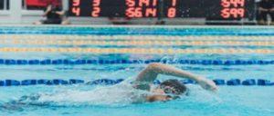 有酸素運動の水泳をする人