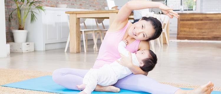 赤ちゃんとママのスキンシップ!ベビーヨガの特徴やメリット