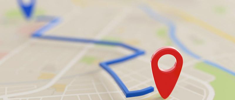 目的地までの道のりを表した地図
