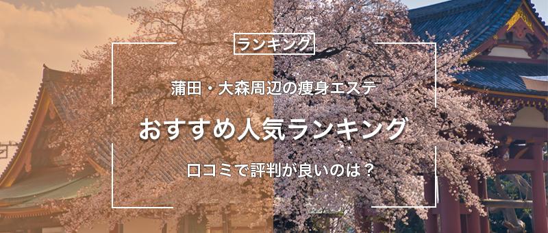 【最新2020年】蒲田・大森周辺の痩身エステおすすめ9選!口コミや評判の高い人気ランキング!